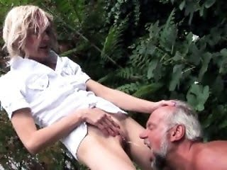Oiled up MILF gets shaved...