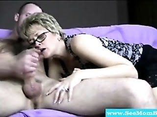 Mature Slut Sucks Cock...