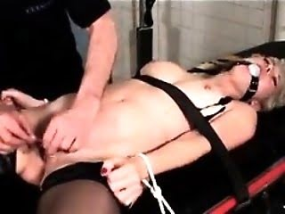 Chubby Chick Bound and Spanked
