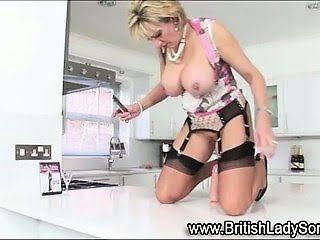Stockinged mature british...