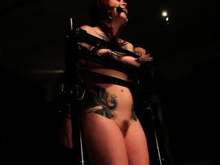 Bitgagged slave cloverclamped