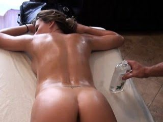 Sexy hunk giving fleshly massage