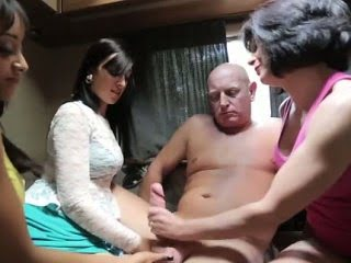 Cfnm babes eat and tug fatty