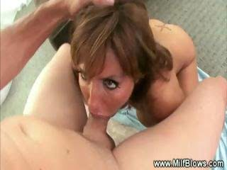 Milf gives deep blowjob...