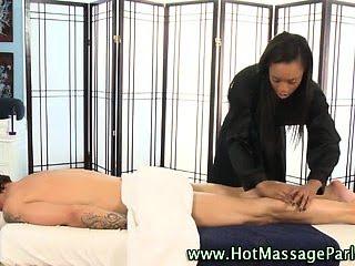 Babe masseuse working on...