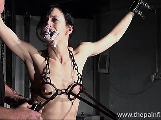 Tit tortured and caged...