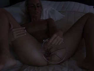 Dildoing and opening her...
