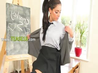 amazing schoolgirl doing...