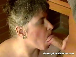 Granny fucked in her mouth