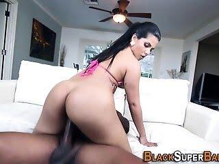 Latina fucks black cock