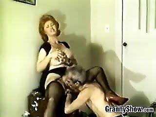 Mature Redhead Sucking Cock...